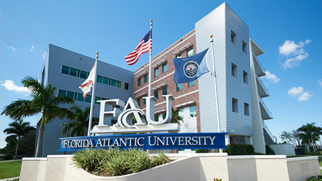 FAU Sign in front of Davie Campus West Building